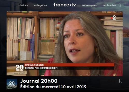 Scrib aix chez france2 journal 20h 10 04 19 1